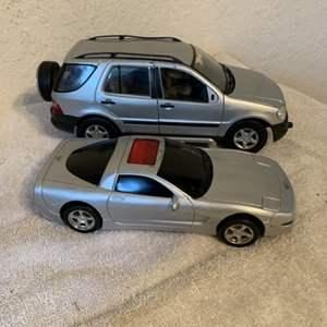 Lot # 215  Lot Diecast SUV & Plastic Vette