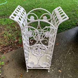Lot # 217  Solid Vintage Wrought Iron Stand
