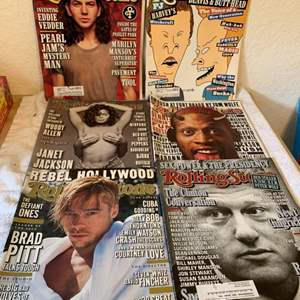 Lot # 225 Great Condition 6 Rolling Stone Magazines. See Pics