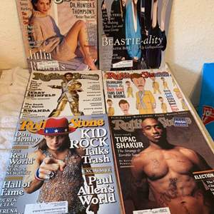 Lot # 226 Great Condition Lot 6 Rolling Stone Magazines. See Pics