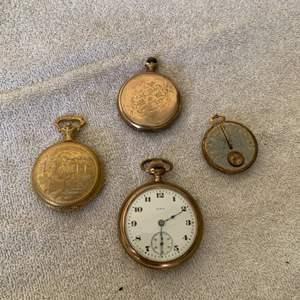 Lot # 229 Vintage Lot Elgin, Timex Pocket Watches, Etc. See Below