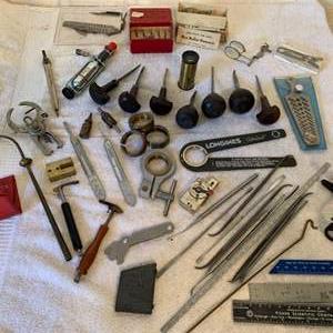 Lot # 231  Huge Lot Vintage Watch Repair/Makers Accessories