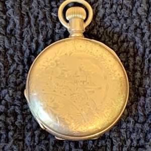 Lot # 233 Antique 14K GF Elgin Pocket Watch. See Below