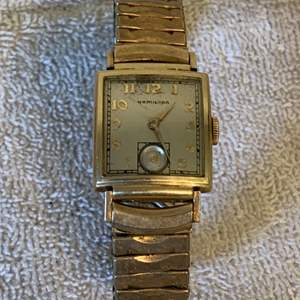 Lot # 235 Vintage 1940 Hamilton 14K GF Mans Watch. See Below