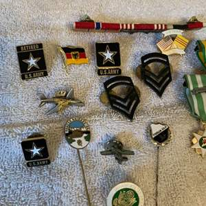 Lot # 281  Lot Of Assorted Military Items