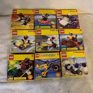 Lot # 282  Lot 9 Shell Promotional Assorted Legos NIB