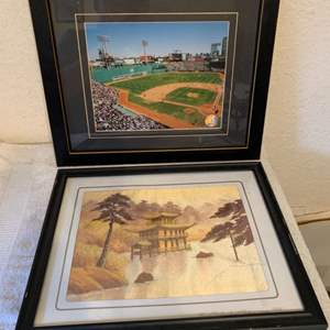 Lot # 283 Lot Two Wall Hangings. Fenway Park & Hand Embroidered