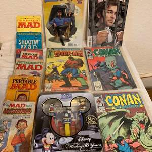 Lot # 285 Lot Vintage Comic Books-Mad Paperbacks- Disney Pez