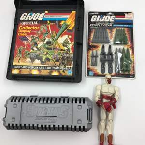 Auction Thumbnail for: Lot # 123 - Vintage GI Joe Lot - Hasbro - Collectors Case - Weapons Pack - Storm Shadow
