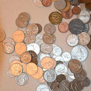 Lot # 161 Foreign coins and tokens
