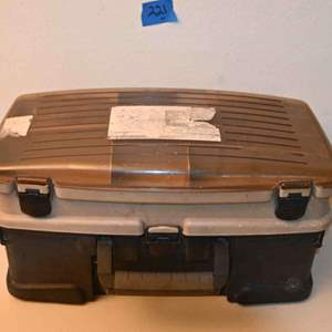 Lot # 221 Large empty tackle box