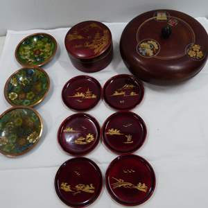Lot # 59  Great lot of Oriental collectibles to include Cloisonne