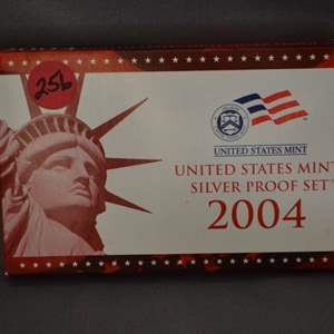Lot # 256 2004 UNITED STATES MINT SILVER PROOF SET