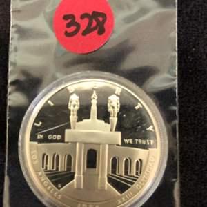 Lot # 328 1984 COMMEMORATIVE PROOF SILVER DOLLAR XXIII OLYMPIAD LOS ANGELES COLISEUM