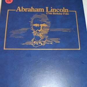 Lot # 131 ABRAHAM LINCOLN 175TH BIRTHDAY FOLIO