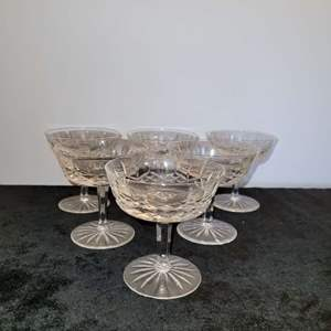 Lot # 43 Set of 6 Waterford LISMORE Champagne Glasses - Excellent Condition