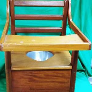 Lot #8 Vintage Handmade Potty Chair