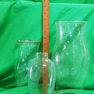 Lot #9 Hurricane Glass Shades & Globes