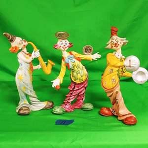 Lot #11 Fontanini Musical Clowns