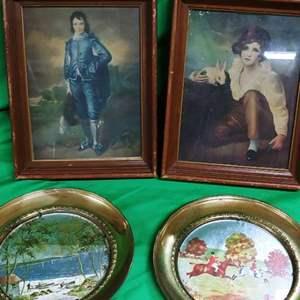 Lot #20 Vintage Prints & MCM Reverse Paintings