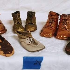 Lot #24 Bronze Cast Shoe Lot