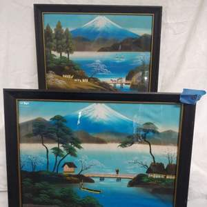 Lot #28 Framed Silk Prints