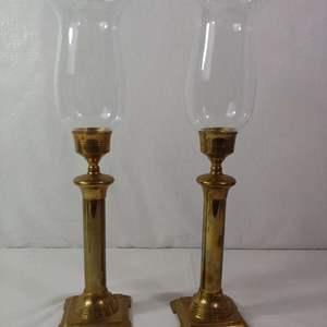 Lot #33 Vintage Brass Candlesticks