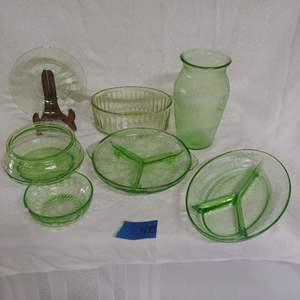 Lot #40 Vaseline Glass Lot