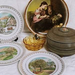 Lot #44 Currier & Ives Plates Plus