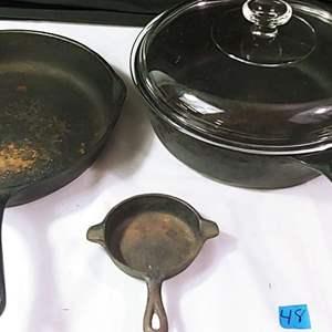 Lot # 48 Wagner's 1891 Cast Iron Pans