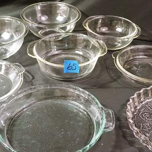 Lot # 65 Clear Oven Dishes