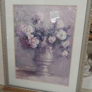Lot # 95 Floral Framed Lot