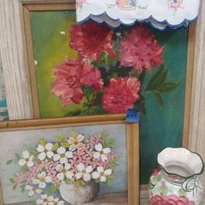 Lot # 104 Framed Floral Lot
