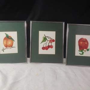 Lot # 121 Framed Fruit Prints