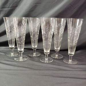 Lot # 134 Crystal Drinking Glasses