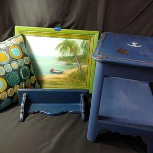 Lot # 150 Painted Table & More