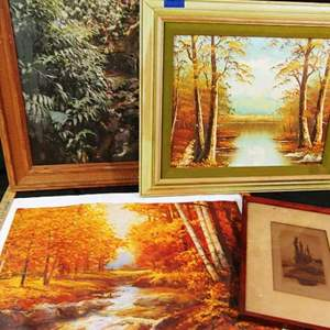 Lot # 153 Paintings, Prints, Lithograph