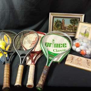 Lot # 154 Vintage Rackets & more