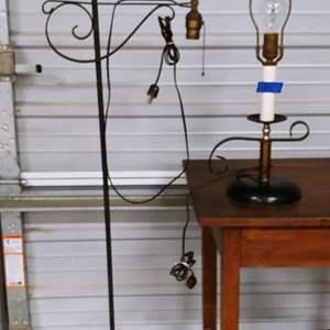 Lot # 185 2 Vintage Lamps