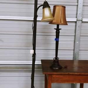 Lot # 186 Floor & Buffet Lamp