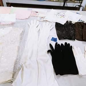 Lot # 196 Vintage Ladies Gloves & More