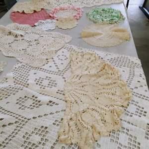 Lot # 202 Vintage Crochet Doilies