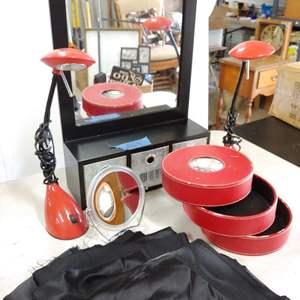 Lot # 229 Mirror/Lamp Items
