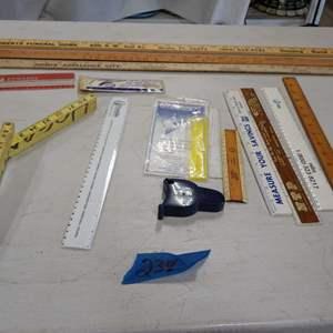 Lot # 238 Vintage Ruler/Measuring Items