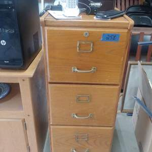 Lot # 258 Filing Cabinet with Contents