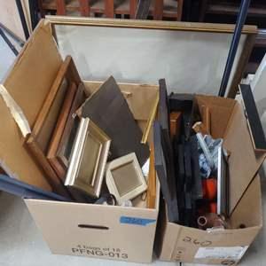 Lot # 260 Mixed Frames & Craft Items
