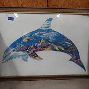 Lot # 280 Large Framed Dolphin Puzzle