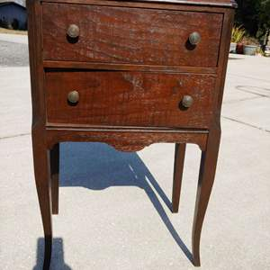 Lot # 283 Rare Sewing Storage Cabinet