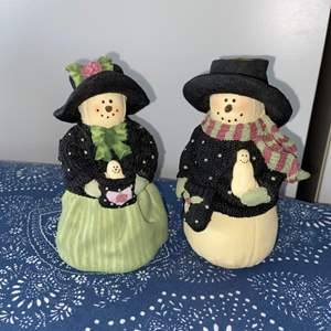 Lot # 4 Plum Pudding Snowmen by Heather Hykes