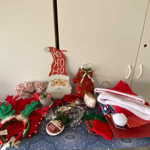 Lot # 11 Christmas Hats, Antlers & More
